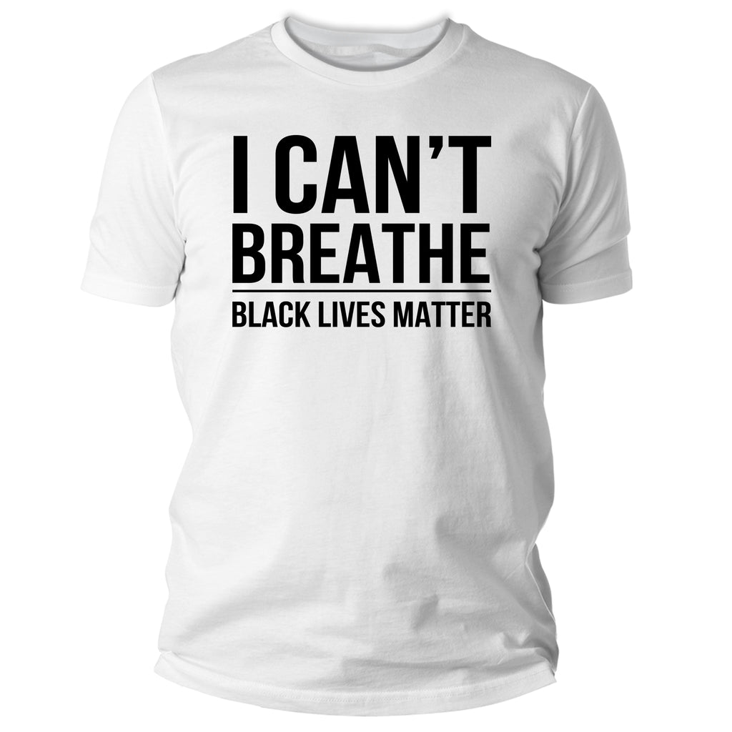 I Can't Breathe Black Lives Matter Graphic T Shirt - Kurolabel Brand
