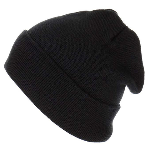 12 inch Long Beanie for Unisex Long Plain Skull Toboggan Knit Hat and Cap - Kurolabel Brand