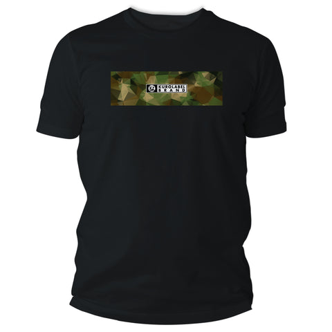 Camoflage with Kurolabel Brand Logo Graphic T Shirt