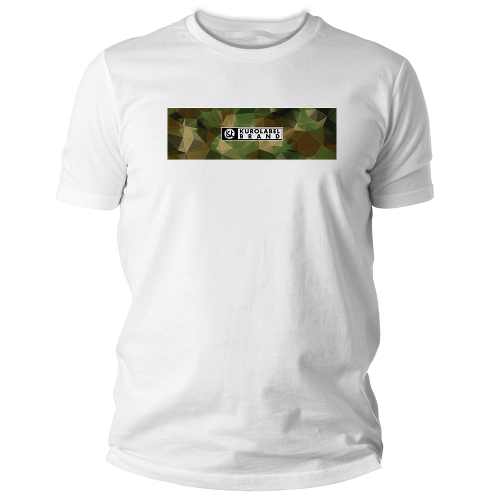 Camoflage with Kurolabel Brand Logo Graphic T Shirt - Kurolabel Brand