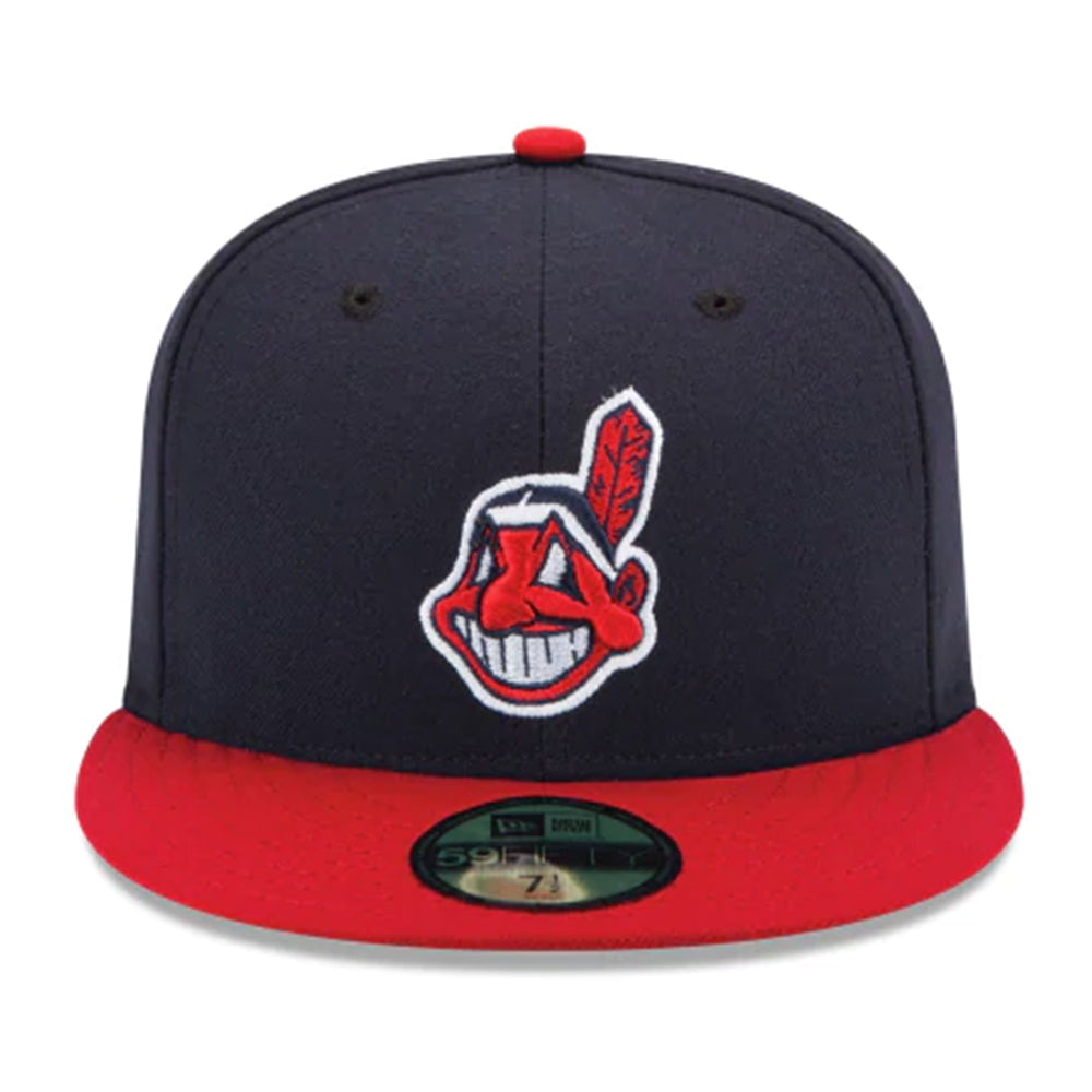 a5ca8eec Cleveland Indians Authentic Collection 59fifty Fitted Hat-NAVY/RED ...