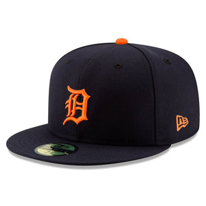 Detroit Tigers New Era Navy Road Authentic Collection On-Field Logo 59FIFTY Fitted Hat - Kurolabel Brand