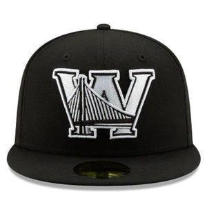 Golden State Warriors NBA Authentics Back Half Black 59fifty Fitted - Kurolabel Brand