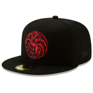 Game of Thrones HBO Authentic New Era House Targaryen 59FIFTY Fitted Cap - Kurolabel Brand