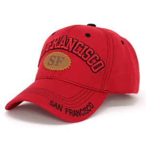San Francisco Baseball Cap with SF Patch - Kurolabel Brand