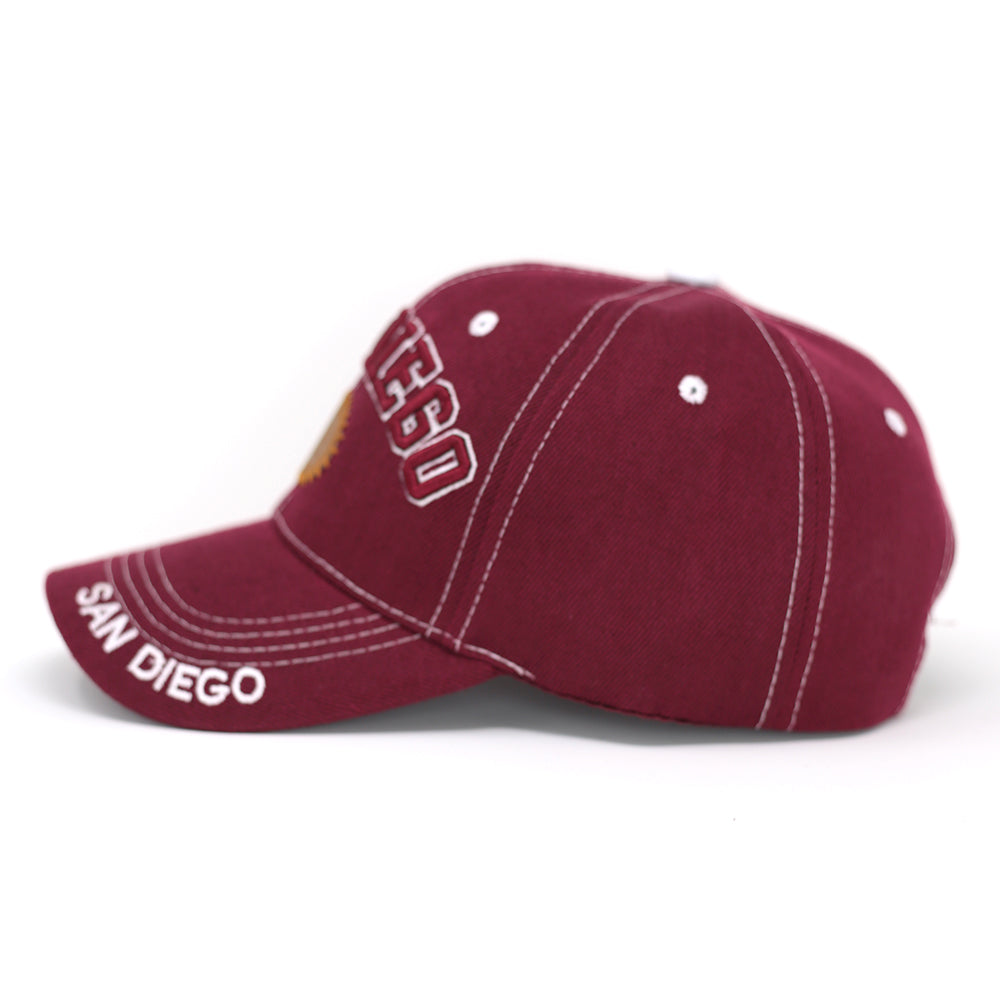 San Diego Baseball Cap with SD Patch - Kurolabel Brand