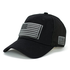USA Flag & USA Baseball Cap-Black - Kurolabel Brand
