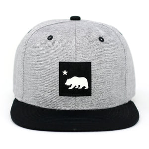 California Bear Small Patch Snapback Cap - Kurolabel Brand