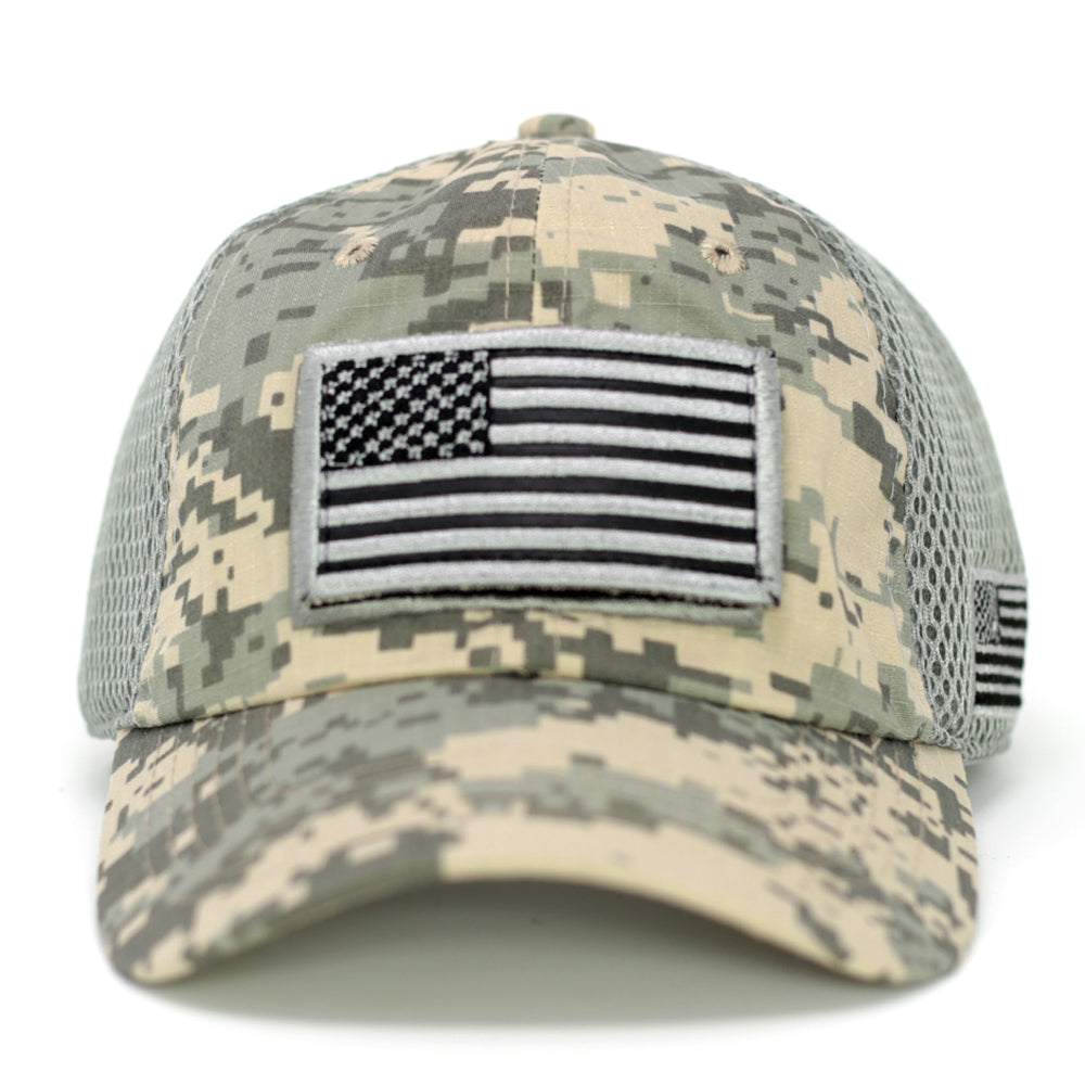 USA Flag & USA Baseball Cap-Digital Gray Camo - Kurolabel Brand