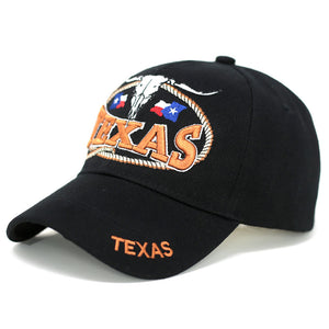 Bull Skeleton Texas Baseball Cap - Kurolabel Brand