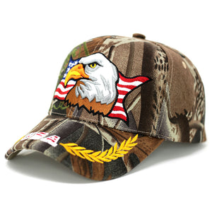 Eagle with USA Flag Baseball Cap - Kurolabel Brand