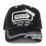Jesus One Way Baseball Cap - Kurolabel Brand