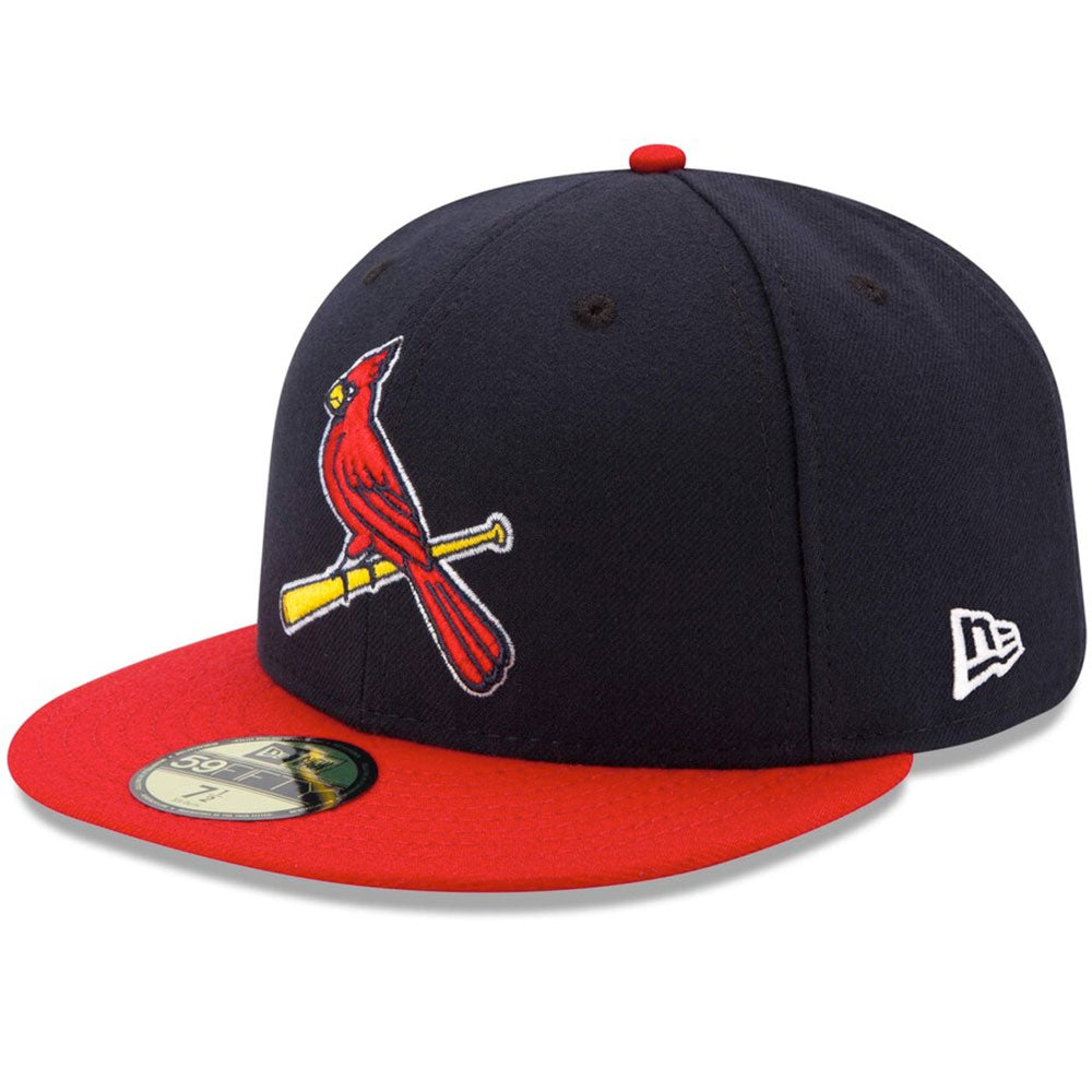 St. Louis Cardinals New Era Navy/Red Alternate 2 Authentic Collection On-Field 59FIFTY Fitted Hat - Kurolabel Brand