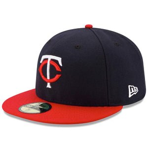 Minnesota Twins New Era Navy/Red Road Authentic Collection On-Field 59FIFTY Fitted Hat - Kurolabel Brand