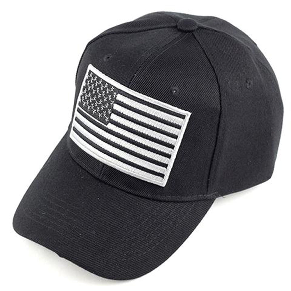 USA Black & White Flag Patch Baseball Cap - Kurolabel Brand