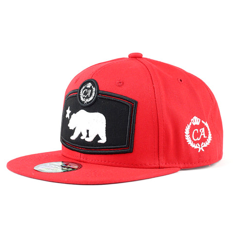California Bear in the Box Snapback (Red)