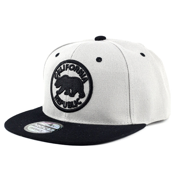 Circle California Republic Snapback Cap