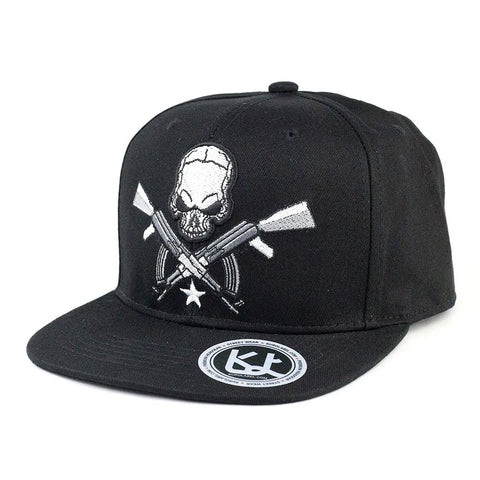 Skull and AK Cotton Snapback Cap - Kurolabel Brand