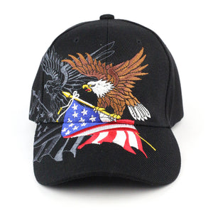 Patriotic Baseball Cap American Flag Bald Eagle Hat - Kurolabel Brand