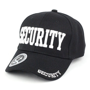 3D Embroidered Security Guard Adjustable Baseball Cap - Kurolabel Brand