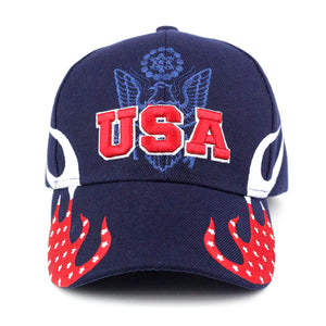 USA and Flame Baseball Cap - Kurolabel Brand