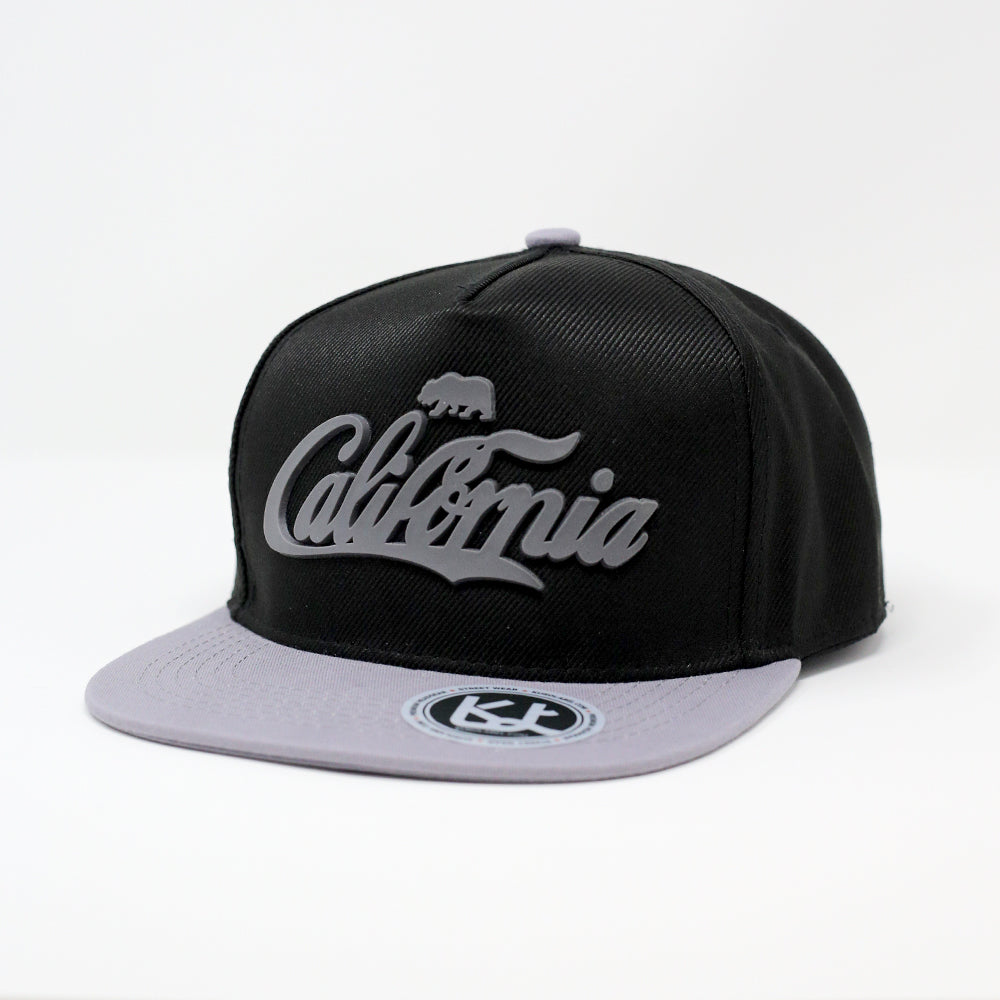 California Text with 3D Rubber - Kurolabel Brand