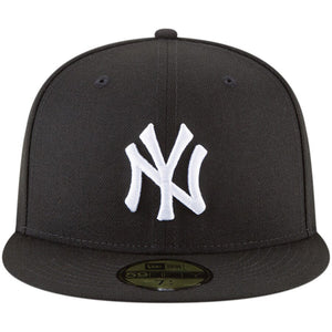 New York Yankees New Era Black Basic 59FIFTY Fitted Hat - Kurolabel Brand