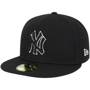 New York Yankees New Era B-Dub 59FIFTY Fitted Hat - Black
