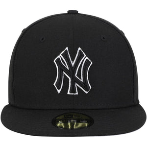 New York Yankees New Era B-Dub 59FIFTY Fitted Hat - Black - Kurolabel Brand