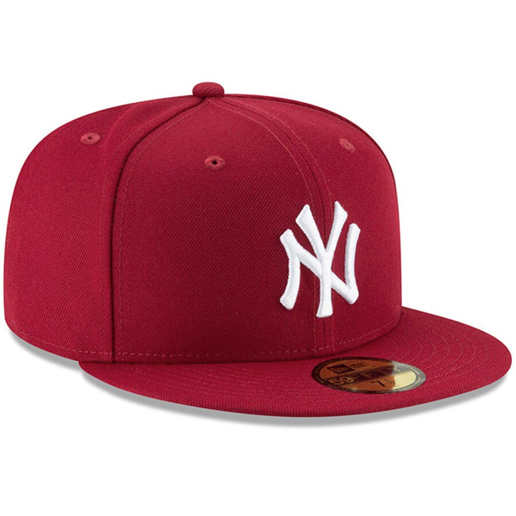 New York Yankees New Era Crimson Fashion Color Basic 59FIFTY Fitted Hat - Kurolabel Brand