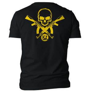Skull With AK47 Graphic Unisex T-Shirt - Kurolabel Brand
