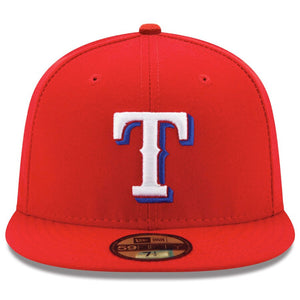 Texas Rangers New Era Red Alternate Authentic Collection On-Field 59FIFTY Fitted Hat - Kurolabel Brand