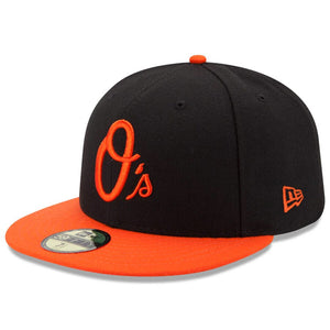 Baltimore Orioles New Era Black/Orange Alternate Authentic Collection On Field 59FIFTY Performance Fitted Hat - Kurolabel Brand