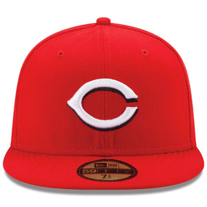 Cincinnati Reds New Era Red Home Authentic Collection On-Field 59FIFTY Fitted Hat - Kurolabel Brand