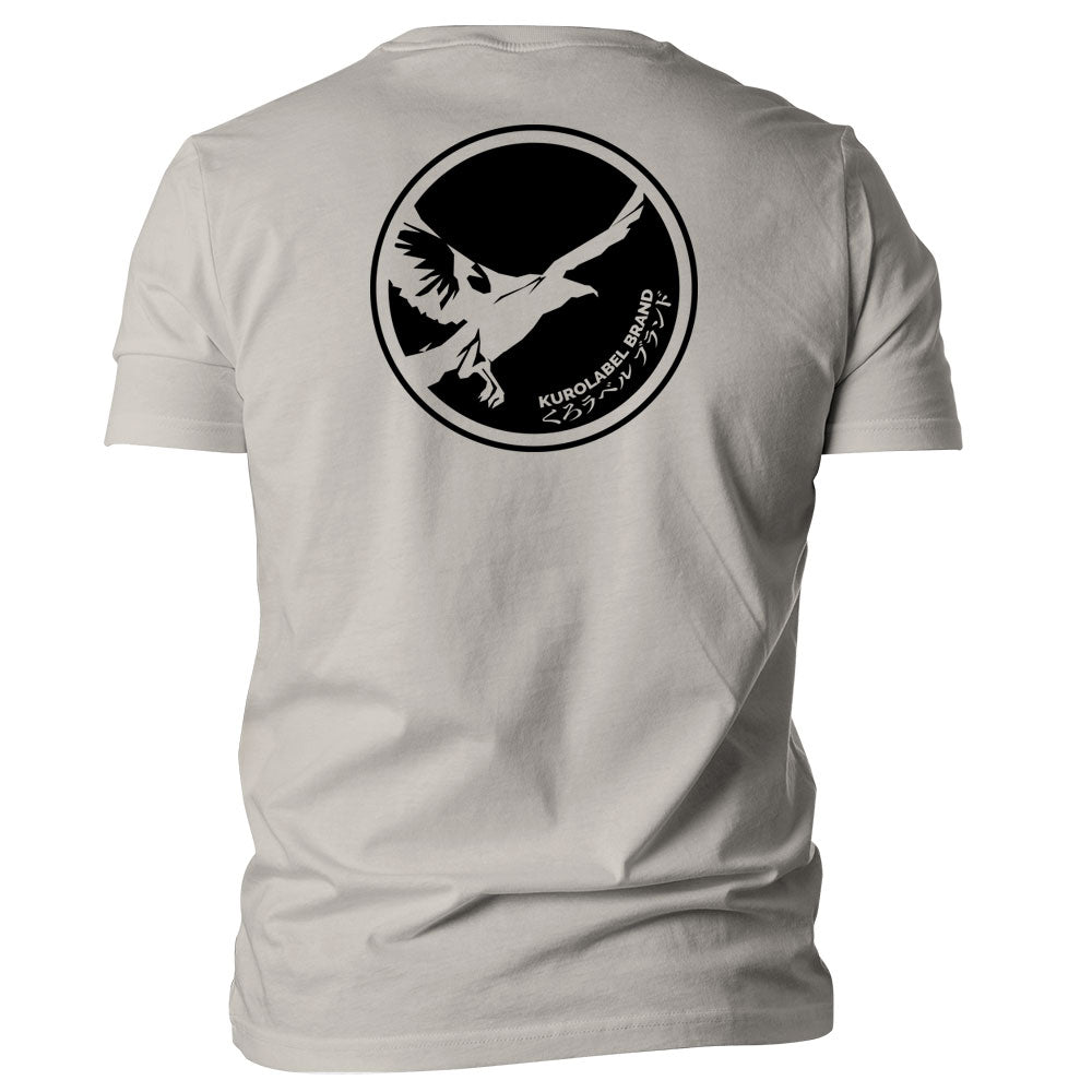 Circle Crow Graphic T-Shirt - Kurolabel Brand