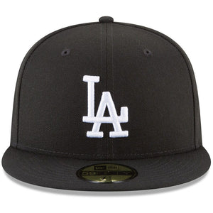 Los Angeles Dodgers New Era Black Basic 59FIFTY Fitted Hat - Kurolabel Brand