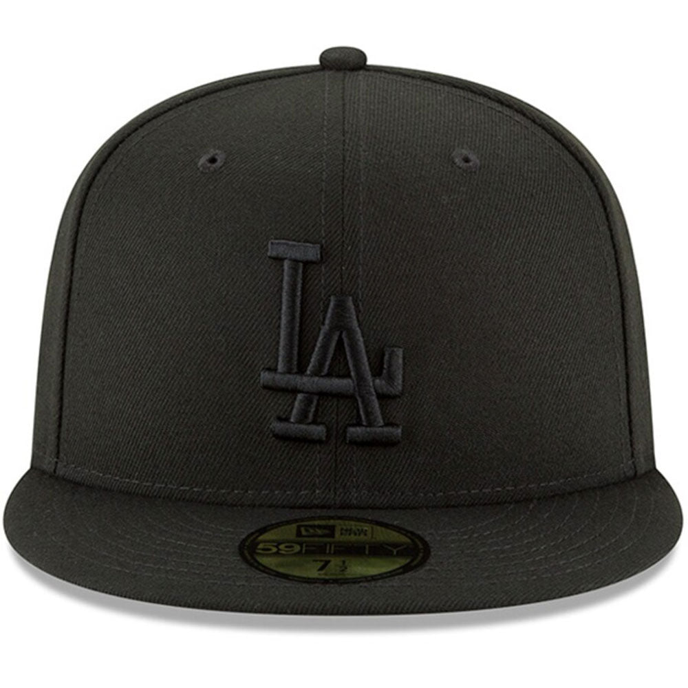 Los Angeles Dodgers New Era Black Primary Logo Basic 59FIFTY Fitted Hat - Kurolabel Brand