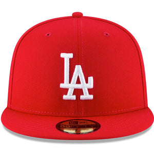 Los Angeles Dodgers New Era Red Fashion Color Basic 59FIFTY Fitted Hat - Kurolabel Brand