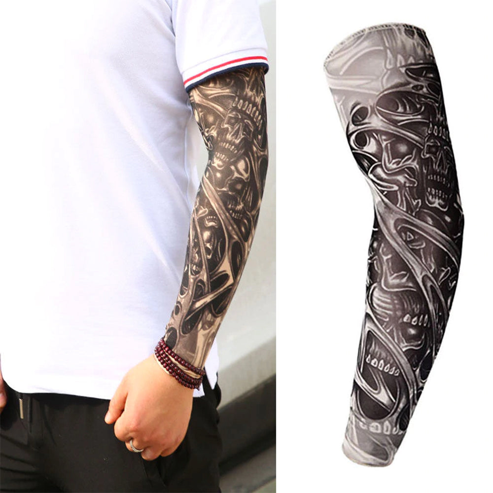 Nylon Elastic Sleeve Designs Body Arm Stockings for Cool Men Women - Kurolabel Brand