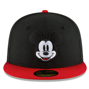 Disney Mickey Mouse Face 59fifty Fitted-Black & Red Color - Kurolabel Brand
