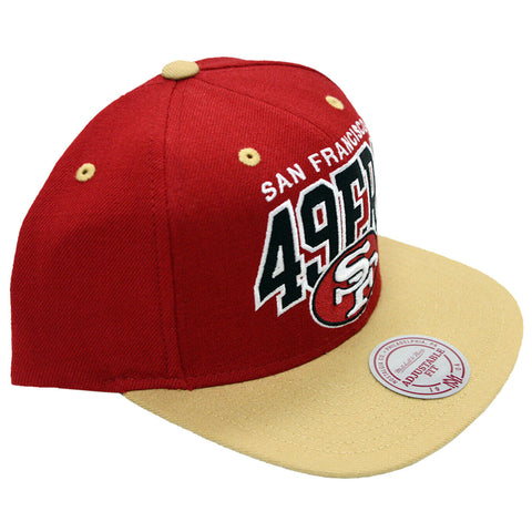 New NFL San Francisco 49ers Arch Logo Mitchell and Ness Snapback Cap Hat