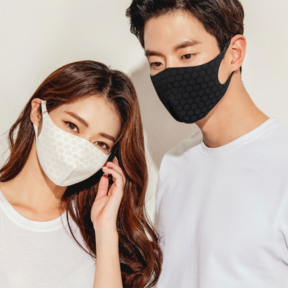 Face Mask 2Pcs, Washable & Reusable, Easy breath, Made in Korea + Shipping - Kurolabel Brand