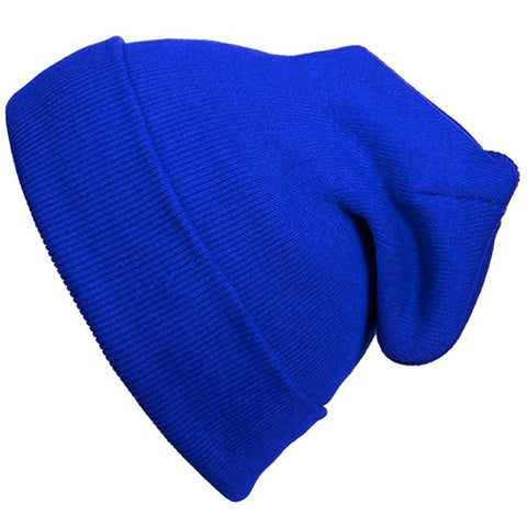 12 inch Long Beanie for Unisex Long Plain Skull Toboggan Knit Hat and Cap
