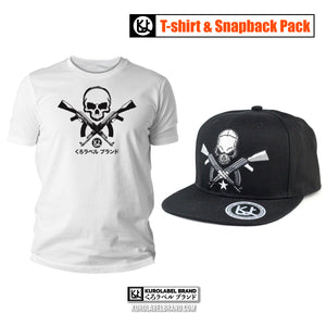 Skull with AK Design Set T Shirt and Snapback Cap