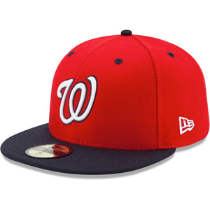 Washington Nationals New Era Red/Navy Alternate 2 Authentic Collection On-Field 59FIFTY Fitted Hat - Kurolabel Brand