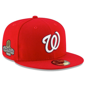 Washington Nationals New Era Red 2019 World Series Champions Side patch 59FIFTY Fitted Hat