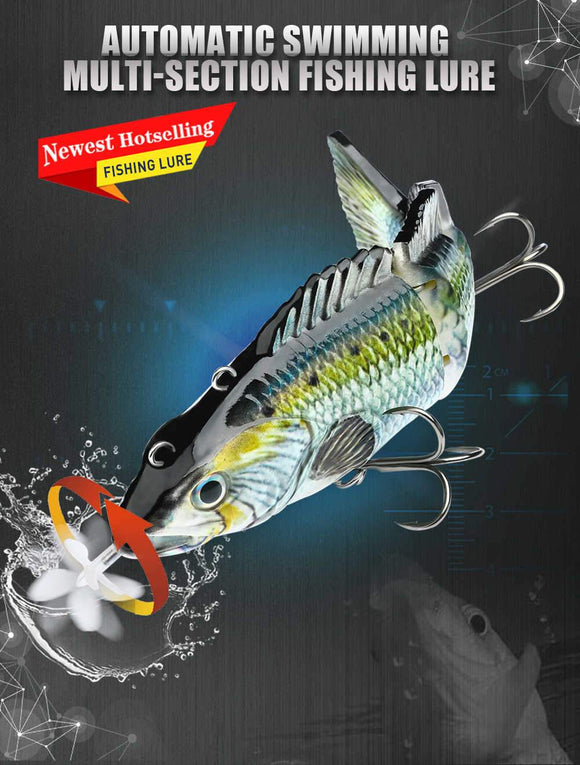 Robotic Swimming Lures Auto Electric Lure Bait Fishing Wobblers