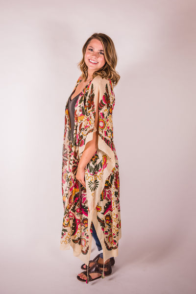 Cotton & Rust Boutique ARTA Rays Of Sunlight Kimono