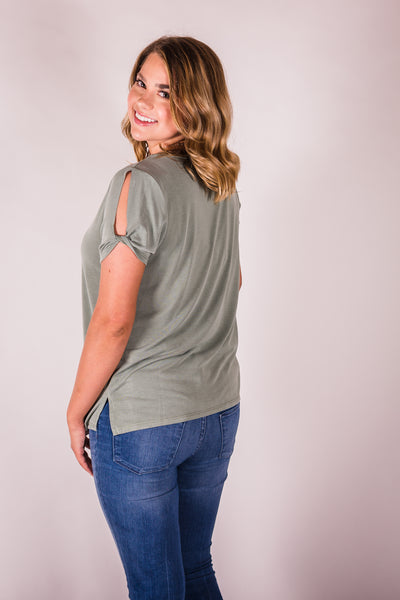Cotton & Rust Boutique + JODF Stella Raw Hem Top