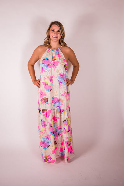 Cotton & Rust Boutique BL Ivy Hummingbird Maxi